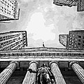 Nyc Looking Up Bw16 by Scott Kelley