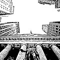 Nyc Looking Up Bw3 by Scott Kelley