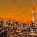 Nyc Skyline by Bruce Bain