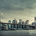 Nyc Skyline In The Sunset V2 by Hannes Cmarits