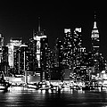 Nyc Skyline June 2012 Bw by Artistic Photos