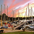 Oak Pt Harbor At Sunset by Brian Wallace