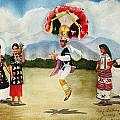 Oaxaca Dancers by Marilyn Jacobson