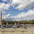 Obelisque Place De La Concorde. Paris. France by Bernard Jaubert