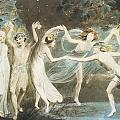 Oberon Titania And Puck With Fairies Dancing by William Blake