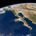 Oblique View Of Baja California by Stocktrek Images