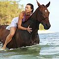 Ocean Horseback Rider by Vince Cavataio