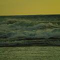 Ocean Waves Coming In Near Sunset by Jeff Swan