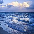 Ocean Waves On Beach At Dusk by Elena Elisseeva
