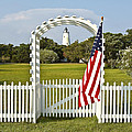 Ocracoke Lighthouse July 4th by Bill Swindaman