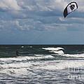 October Beach Kite Surfer by Susanne Van Hulst