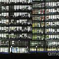 Office Buildings At More London By Night by Roberto Morgenthaler