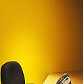Office Desk, Phone, And Chair by Jetta Productions, Inc