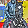 Officer And Black Horse by Michael Frank Jr