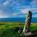 Ogham Stone, Dunmore Head, Dingle by The Irish Image Collection