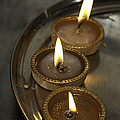 Oil Lamps Kept In A Plate As Part Of Diwali Celebrations by Ashish Agarwal