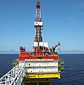 Oil Production Rig, Baltic Sea by Ria Novosti