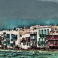 Oill Paint Effect Mykonos Greece by Tom Prendergast