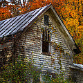 Old Abandoned House In Fall by Jill Battaglia