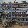 Old Automobile Parts On Shelves by Noam Armonn