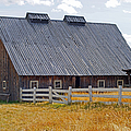 Old Barn And Fence by Randy Harris