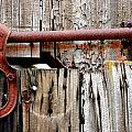 Old Barn Door Detail by Jeff Lowe