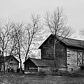 Old Barn In Monochrome by JD  Fielding