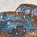 Old Blue Chevy Winter Storm by CheyAnne Sexton
