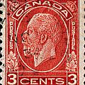old Canadian postage stamp by James Hill