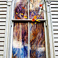 Old Carpenter Gothic Style Church Window In Wv Fall by Kathleen K Parker