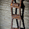 Old Chain And Barn Wood by Steve McKinzie