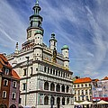 Old City Hall Clock Tower - Posnan Poland by Jon Berghoff
