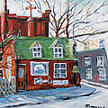 Old Corner Store Montreal By Prankearts by Richard T Pranke