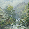 Old Disused Mill Dolgelly by William Henry Mander