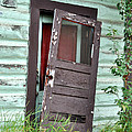 Old Door On Rustic Alaska Cabin by Gary Whitton