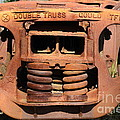 Old Double Truss Train Wheel . 7d12855 by Wingsdomain Art and Photography