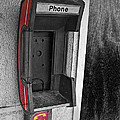 Old Empty Phone Booth by Randall Nyhof