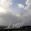 Old Faithful Geyser Yellow Stone National Park by John Shiron
