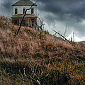 Old Farmhouse With Stormy Sky by Jill Battaglia