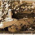 Old Fashion Thank You Card by Susan Kinney