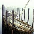 Old Fishing Boat No Longer In Use At by David Chapman