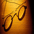 Old Glasses On Braille  by Garry Gay