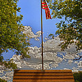 Old Glory Bench by Bill Tiepelman