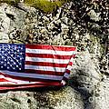 Old Glory On A Rock by Thomas R Fletcher