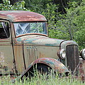 Abandoned Truck In Field by Athena Mckinzie