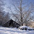Old Hay Barn In Deep Snow by Michael Dougherty