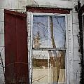 Old House Red Shutter 1 by Robin Lewis