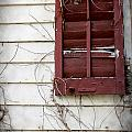 Old House Red Shutter 3 by Robin Lewis