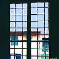 Old House Seen Through An Old Window by Merton Allen