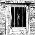Old Jailhouse Door In Black And White by James BO  Insogna